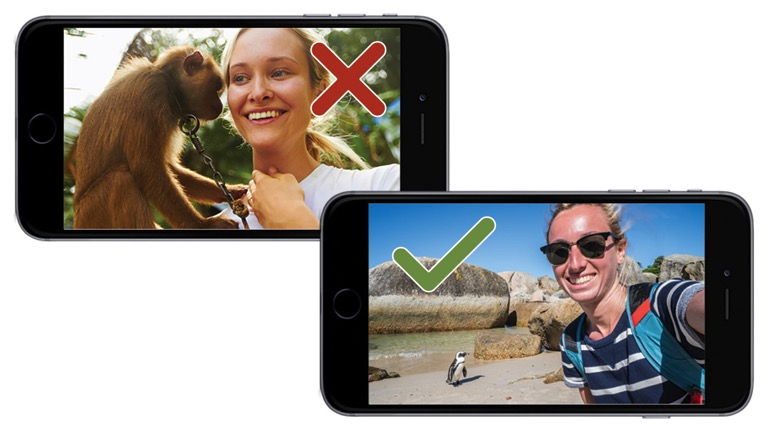 tips for taking selfie wildlife