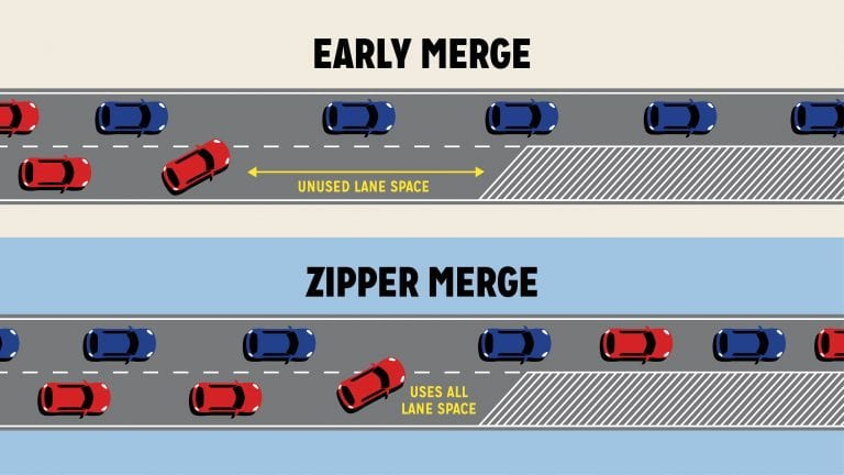 zipper-merge-keeps-traffic-moving-infographic